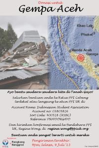 Donasi untuk Gempa Aceh 2013