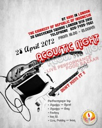 Indonesian Acoustic Night 2012