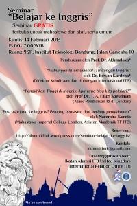 Seminar Belajar ke Inggris 2013