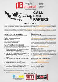 Indonesian Scholars Journal 2nd Call for Papers