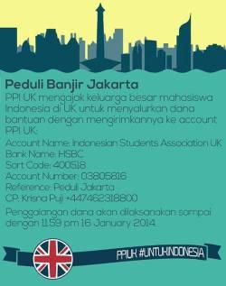 PPIUK Peduli Banjir Jakarta 2014