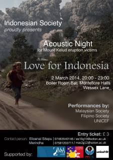 Acoustic Night for Mount Kelud Eruption Victims by Indonesian Society