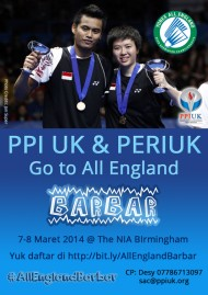 PPIUK & PERIUK Go to All England 2014, Birmingham, 7-8 March 2014