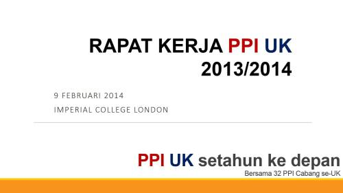 Raker PPIUK 2013/2014