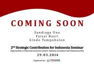 2nd Strategic Contribution for Indonesia Seminar, Leeds, 29 March 2014