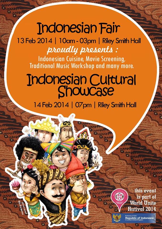 World Unite Festival Poster Flyer Indonesian Education And Culture Attache In London