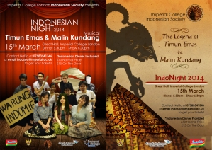 Indonesian Night 2014 by Imperial College Indosoc