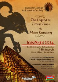 Indonesian Night 2014 by Imperial College Indosoc, London, 15 March 2014