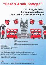 "Call for Article ""Budaya Hidup di United Kingdom"" Pesan Anak Bangsa, Deadline 29 April 2014"