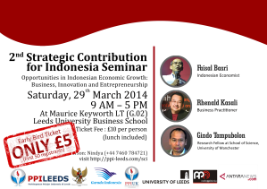 2nd Strategic Contribution for Indonesia Seminar by PPI Leeds