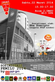 Sosialisasi Pemilu 2014 by PPI Greater Manchester