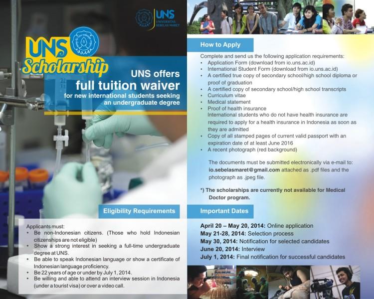 UNS Scholarship 2014