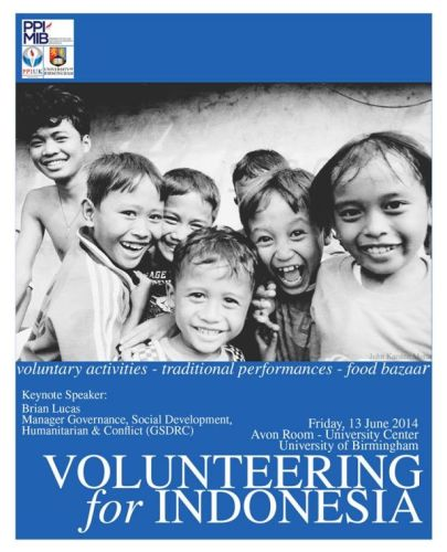 Volunteering Indonesia 2014