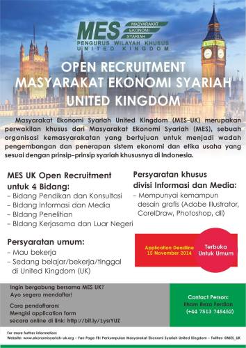 MES Open Recruitment
