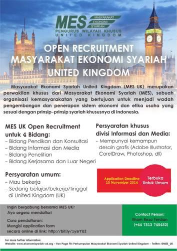 MES Open Recruitment