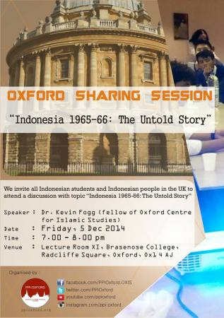 Oxford Sharing Session-5 December 2014