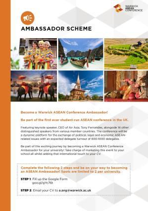 Warwick ASEAN Ambassador Scheme 2015