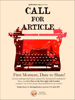 PPI London Call for Article-First Moment Dare to Share 2015