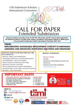 Call for Paper ISIC 2015-extended