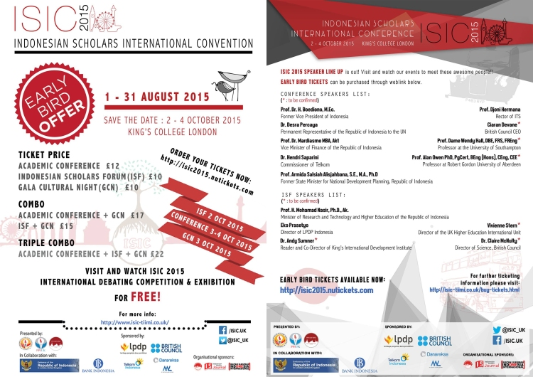 ISIC 2015-Early bird offer-combined