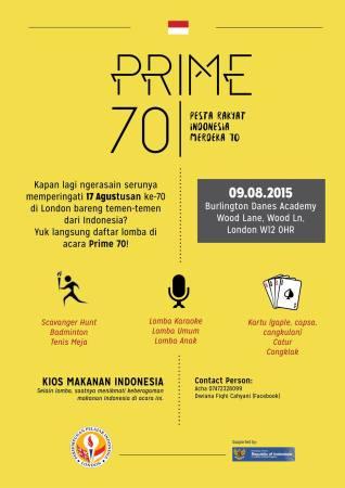 PRIME (Pesta Rakyat Indonesia Merdeka) 70 - General