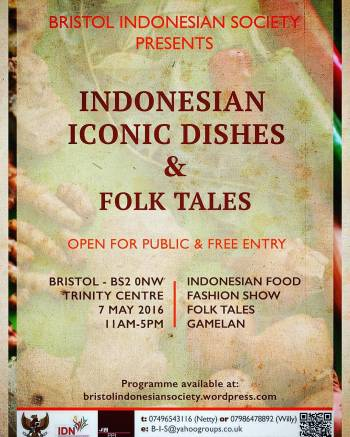 Bristol Indonesian Society Indonesian Iconic Dishes 2016